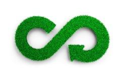 ECO et concept circulaire d'économie, illustration 3D illustration libre de droits