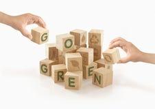 Eco et disparaissent concept vert sur d'isolement Photographie stock libre de droits
