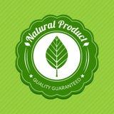 Eco etikett grön logo Naturproduktetikett också vektor för coreldrawillustration Arkivbild