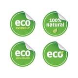 Eco etiketter Royaltyfri Fotografi
