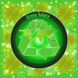 Eco etiketter med design Arkivfoto