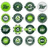 Eco etikettuppsättning Royaltyfri Bild