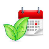 Eco event icon Stock Photo
