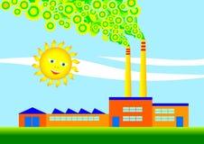 Eco-fábrica libre illustration