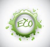 Eco färgstänkstämpel Royaltyfri Foto