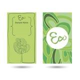 eco för affärskort stock illustrationer