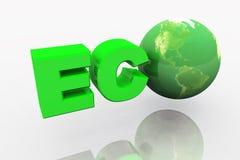 eco för jord 3d Royaltyfri Fotografi