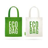 Eco Fabric Cloth Bag Tote. Vector Stock Images