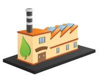 Eco-Fabrik lizenzfreie abbildung