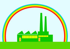 Eco factory vector illustration