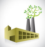Eco factory concept illustration design Royalty Free Stock Photography
