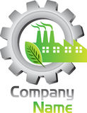 Eco factory logo. Illustration art of a Eco factory logo with isolated background Royalty Free Stock Photography