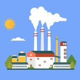 Eco friendly factory Royalty Free Stock Photo