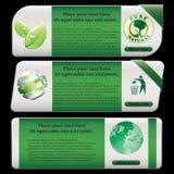 Eco Fahne Stockfotografie