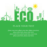 Eco-Fahne Lizenzfreies Stockbild
