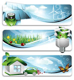 Eco Fahnen Lizenzfreie Stockbilder