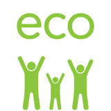 Eco-Familie Lizenzfreie Stockfotografie
