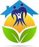 Eco family home. A vector drawing represents eco family home design stock illustration