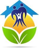 Eco family home Stock Image