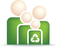 Eco family symbol Royalty Free Stock Photo