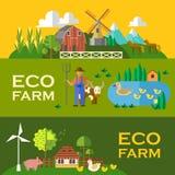 Eco farm Royalty Free Stock Photos