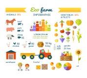 Eco Farm Infographic Elements Vector Flat Design Stock Photos