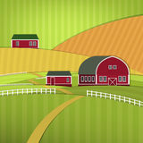 01 Eco Farm landscape. Vector illustration of abstract eco farm landscape Royalty Free Stock Photography