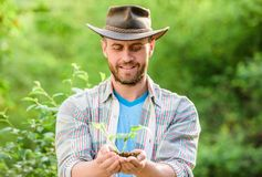 Eco farm worker. Earth day. farming and agriculture cultivation. Gardening. happy earth day. Eco living. muscular ranch royalty free stock photos