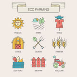 Eco Farming Icons Stock Photography