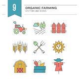 Eco Farming Icons Stock Image