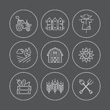 Eco Farming Icons Royalty Free Stock Photography