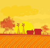 Eco farming - landscapes. Illustration Stock Images