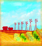 Eco farming - landscapes Royalty Free Stock Photography