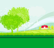 Eco farming landscapes Royalty Free Stock Photos