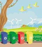 Eco farming - landscapes. Illustration Royalty Free Illustration