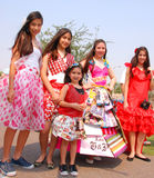 Eco-fashion models at Earth Fest Stock Images