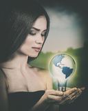 Eco female portrait. stock photo