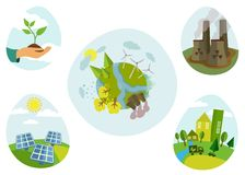Eco flat icons Royalty Free Stock Images