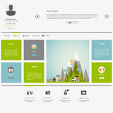 Eco Flat Metro Web Design Template. Stock Photo