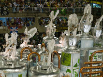 Eco float, Rio Carnival. Eco themed float at Rio Carnival, Brazil Royalty Free Stock Images