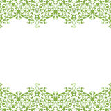 Eco floral frame seamless background, vector swirl Royalty Free Stock Image