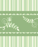 Eco floral greeting card or seamless border Royalty Free Illustration