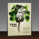 Eco flyer or cover design Stock Image