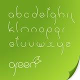 Eco font stock illustration