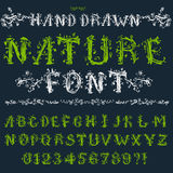 Eco font Royalty Free Stock Photography
