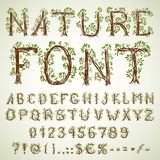 Eco font Stock Images