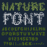 Eco font Royalty Free Stock Image