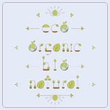 Eco font thin line. Royalty Free Stock Images