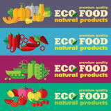 Eco food banners set (+EPS 10) Stock Photography
