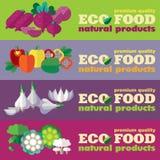 Eco food banners set (+ EPS 10) Stock Photos